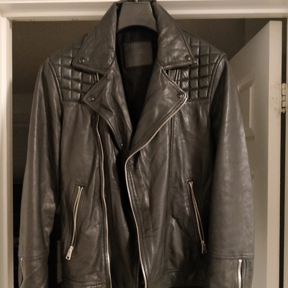 ALLSAINTS Conroy Quilted Leather Jacket